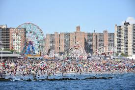 The beach at Coney Island.
