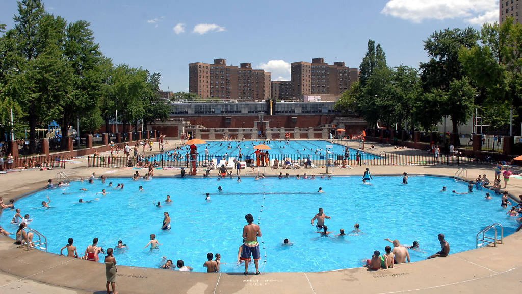 A public pool in NYC.