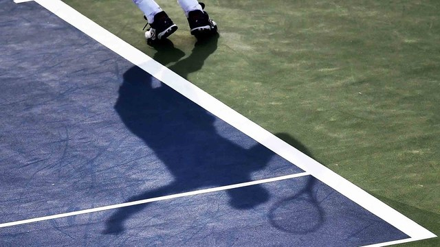 The US Open hard court.